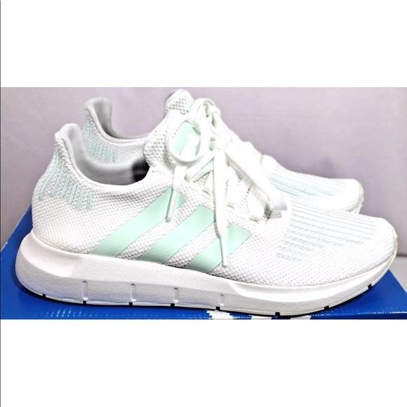 adaf1ca015970 Adidas Swift Run CG4138 Ice Mint Grey White Knit